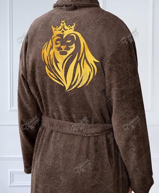 Халат с вышивкой льва 90